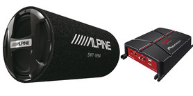 ALPINE SWT-12S4 + PIONEER GM-A3702