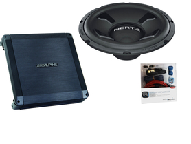 ALPINE BBX-T600 + HERTZ DS 25.3 + KABLE