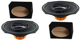 Głośniki samochodowe HERTZ DCX690.3 + OBUDOWY MDF