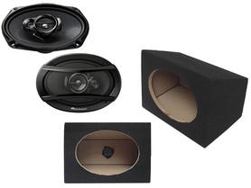 Głośniki samochodowe PIONEER TS-A6933I + OBUDOWY MDF